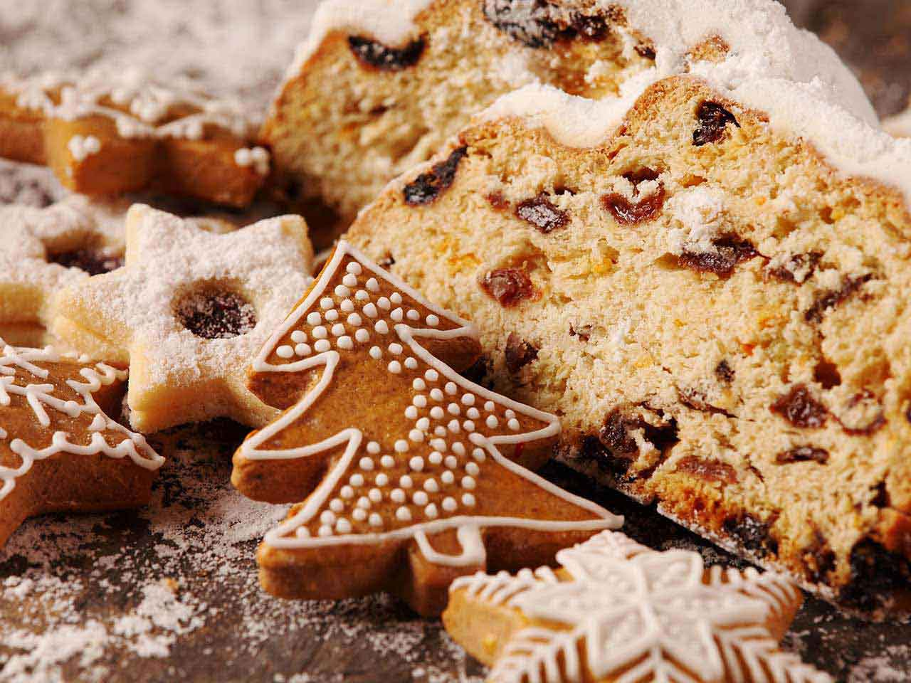 Selection of Christmas baked goods