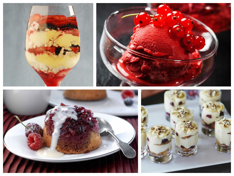 Fruity Christmas desserts