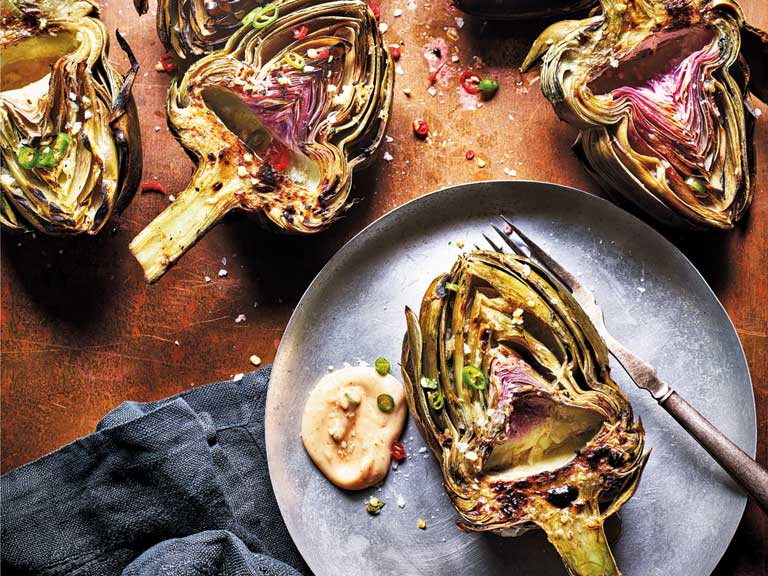 Curry Guy grilled artichoke