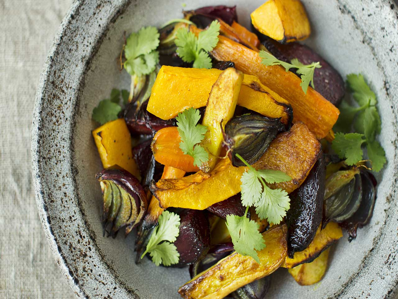 Roast vegetables with Indian spices