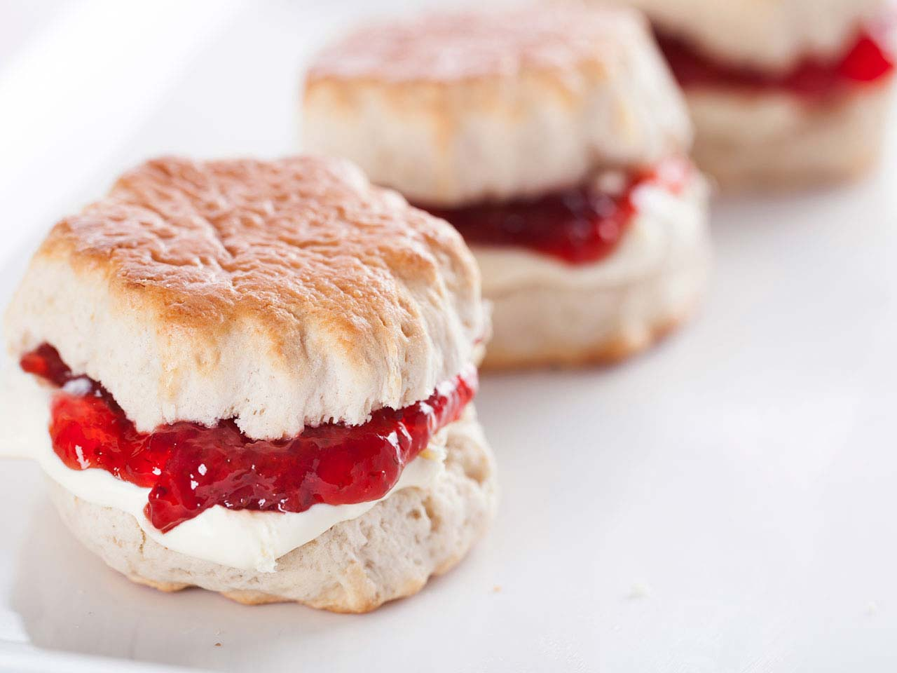 Jam and cream scones