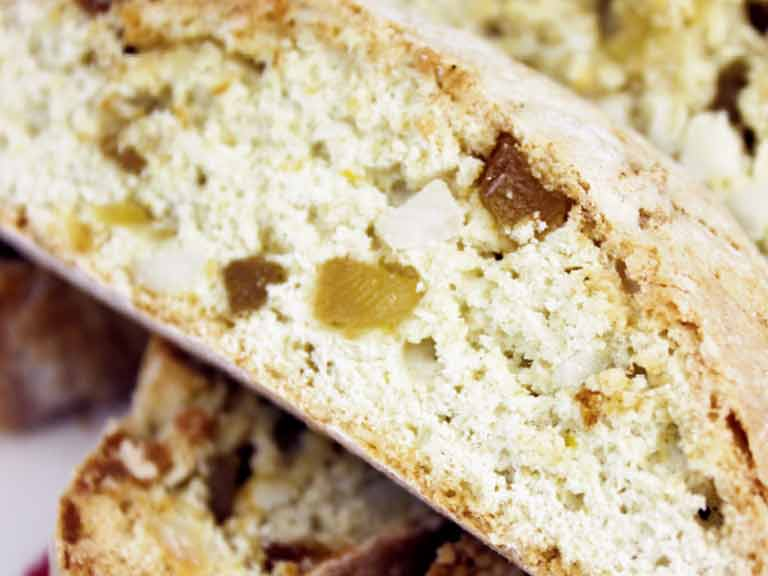 Apricot and macadamia nut biscotti