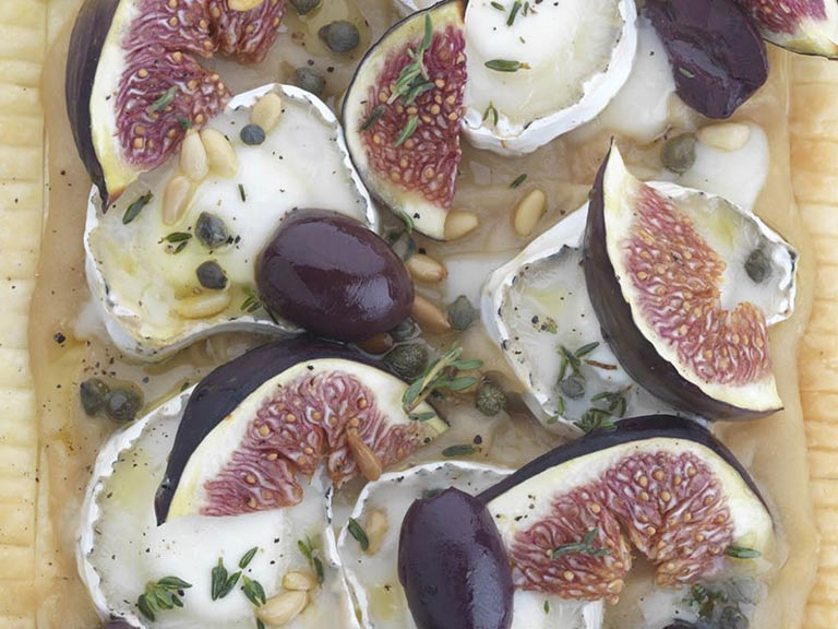 Goat's cheese and fig tart
