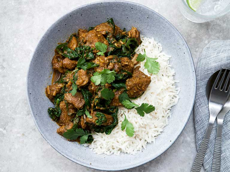 The Hairy Dieters spinach and lamb curry