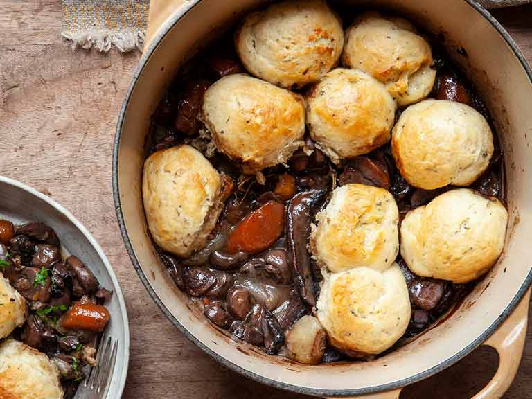The Hairy Bikers' mushroom bourguignon