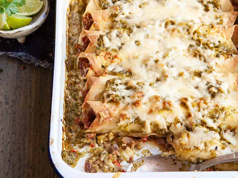 The Hairy Bikers' veggie enchiladas