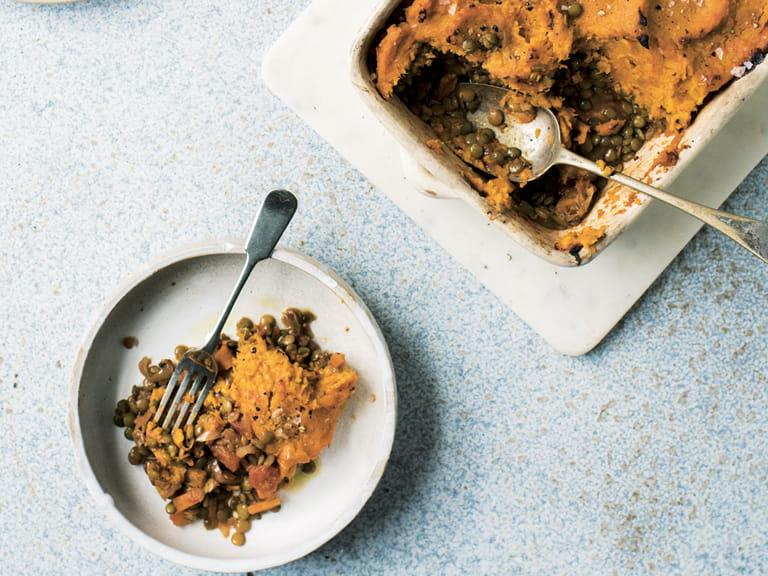 Sweet potato topped cottage pie