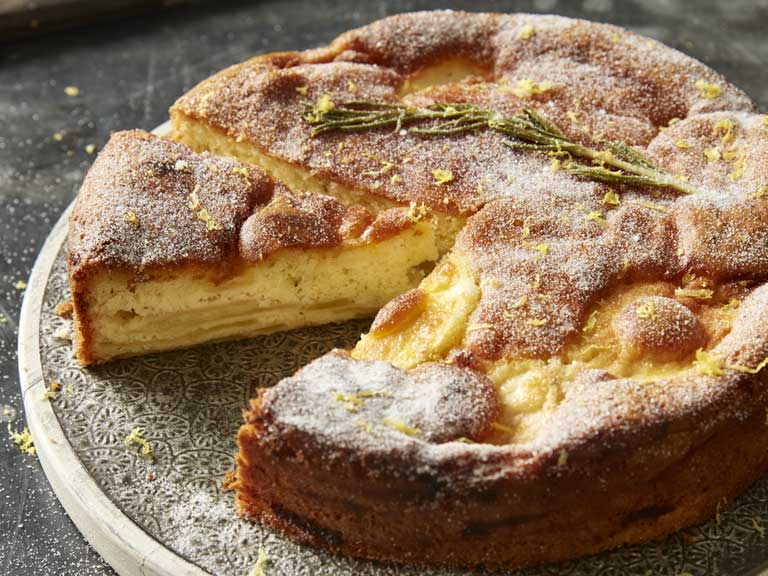 Rosemary and apple cake