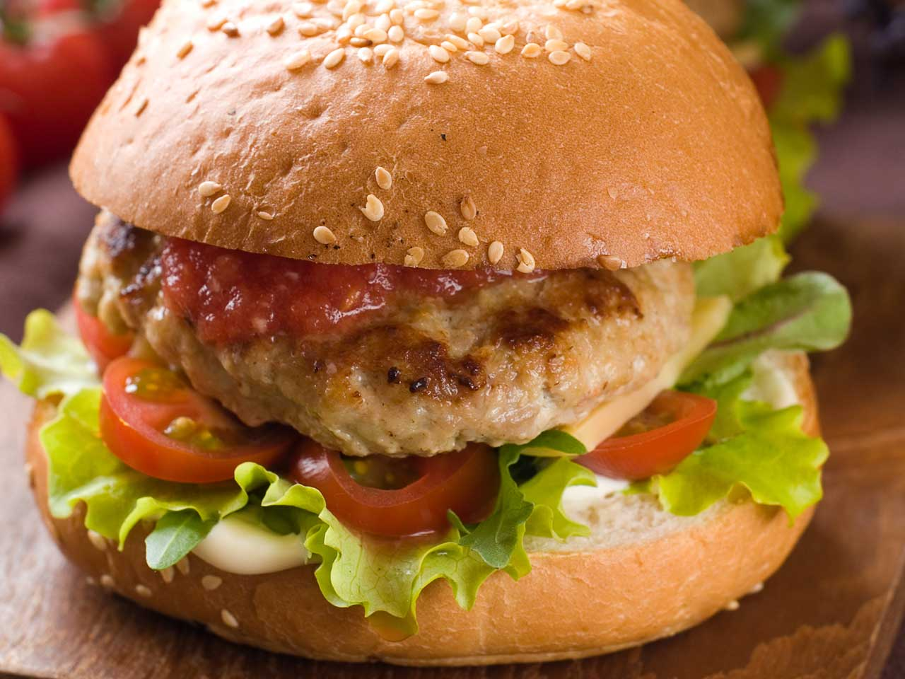 Pork, apricot and fennel burger