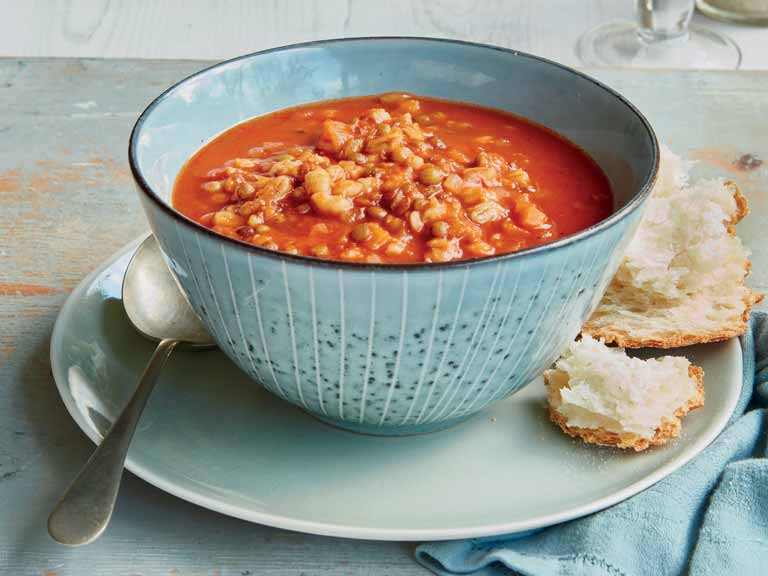 Mary Berry's puy lentil and pearl barley soup