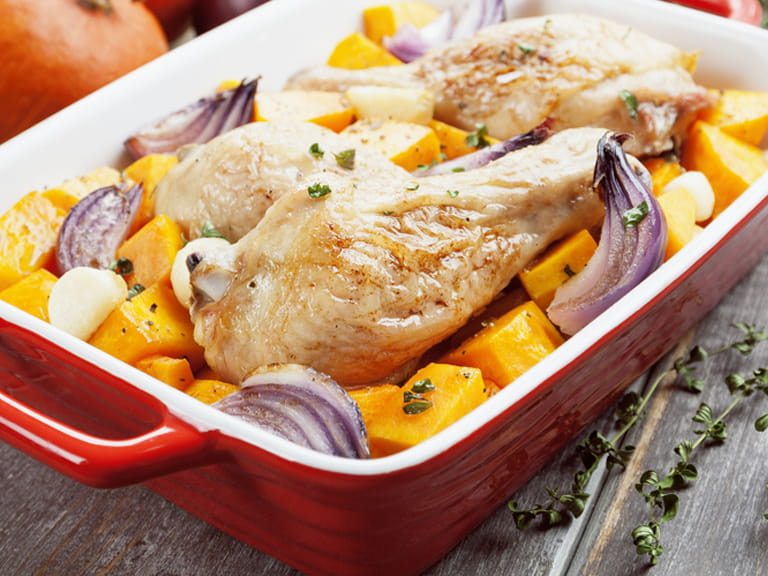 Chicken, lemon and butternut squash