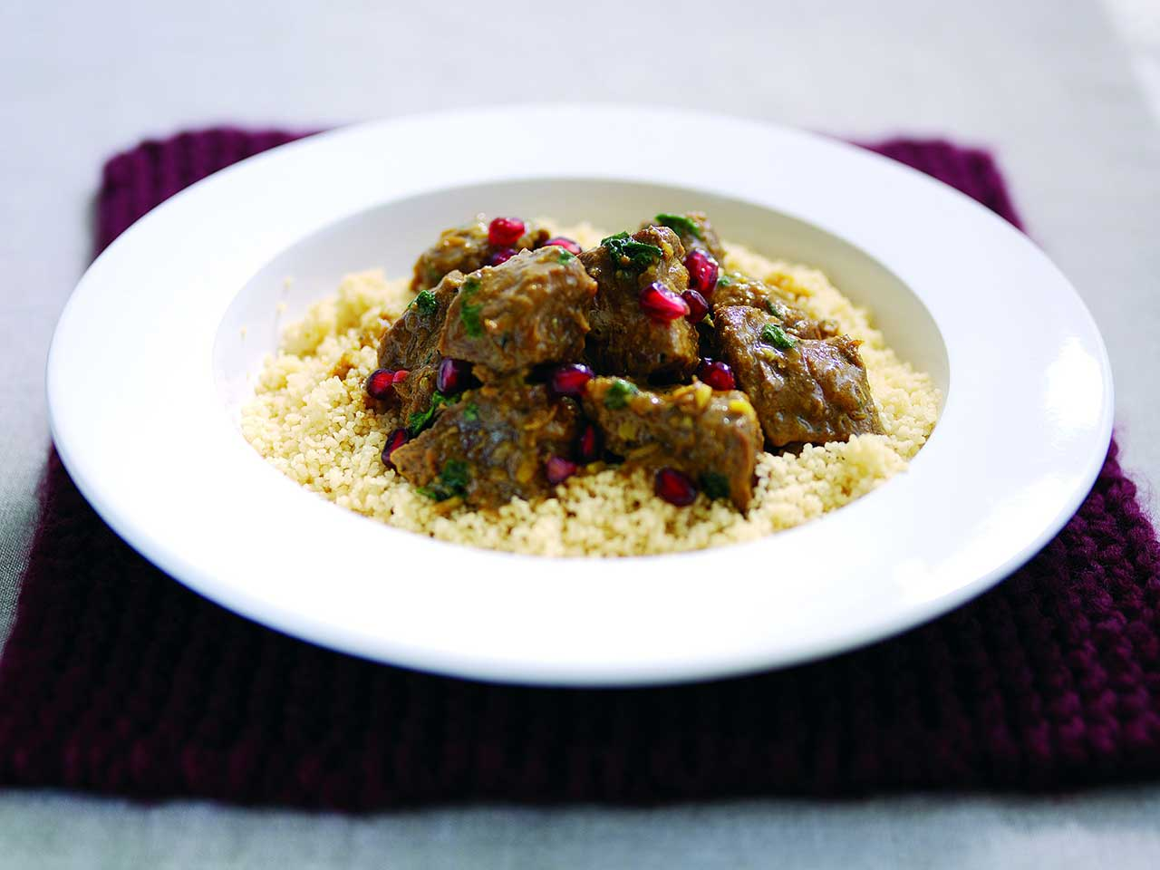 Lamb tagine with pomegranates