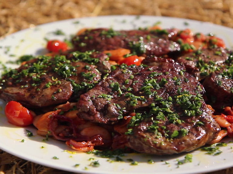BBQ lamb leg steaks