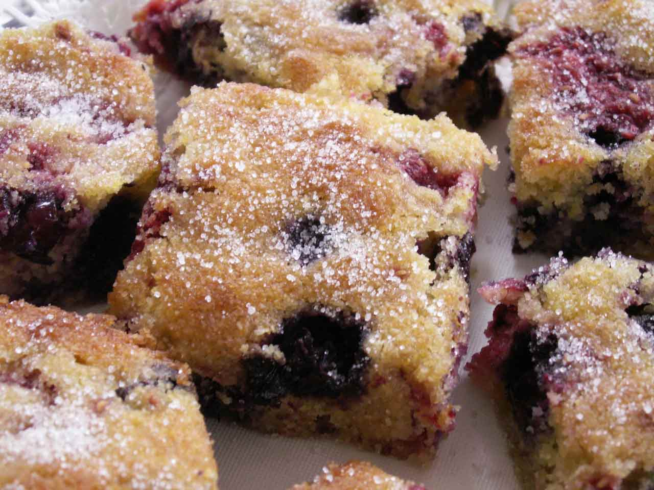 Summer berry squares