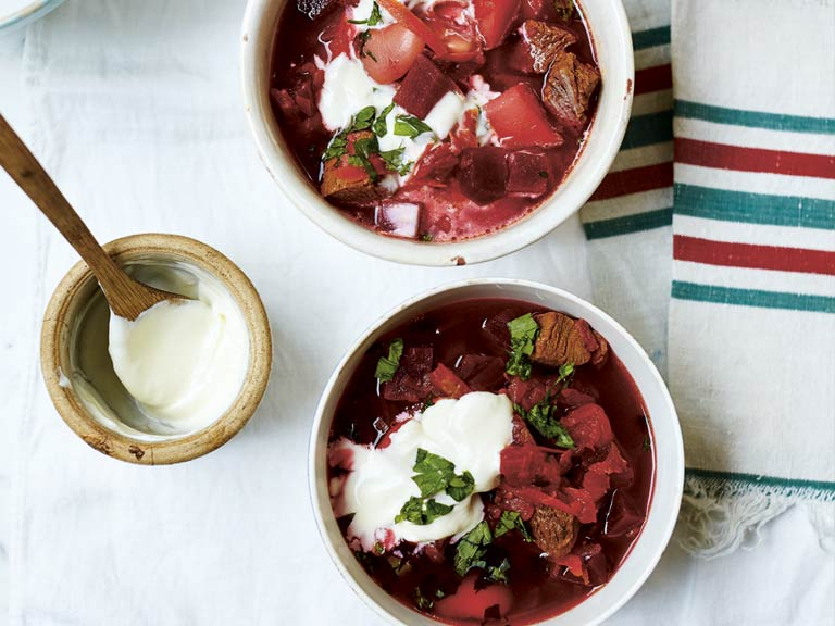 Rich Ukrainian Borscht With Beef And Butter Beans Saga