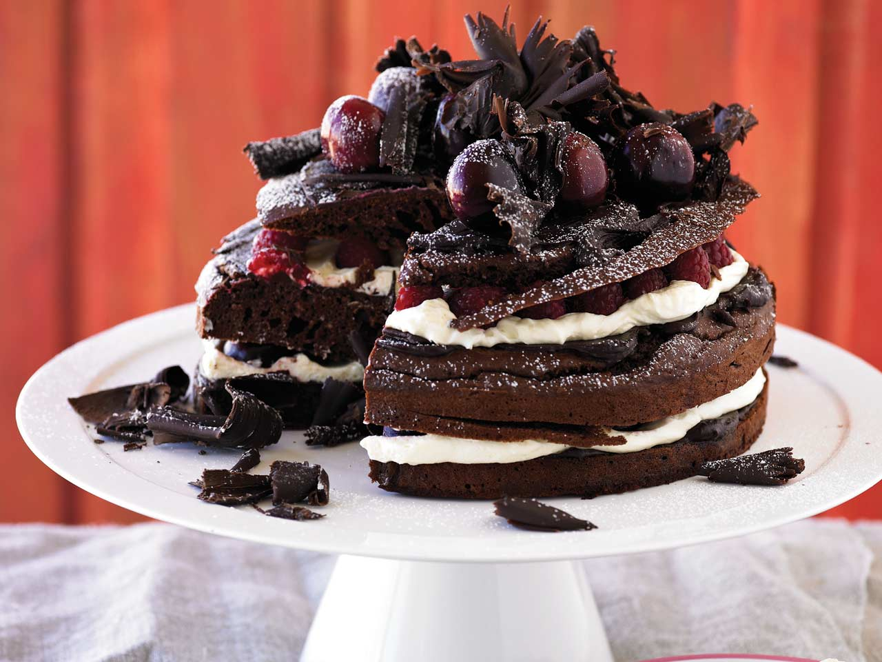 Not-so-naughty chocolate cake
