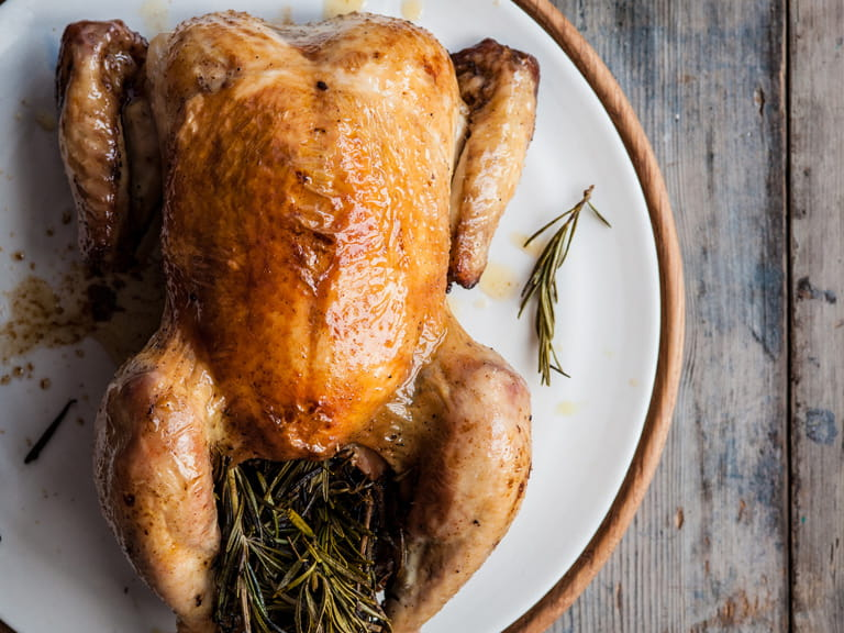 Michael Caines' roast chicken