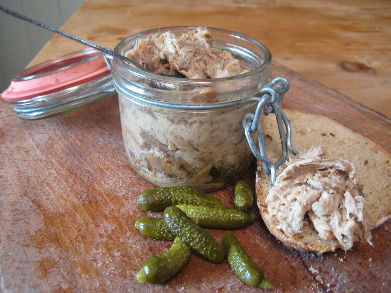 Rabbit rillettes