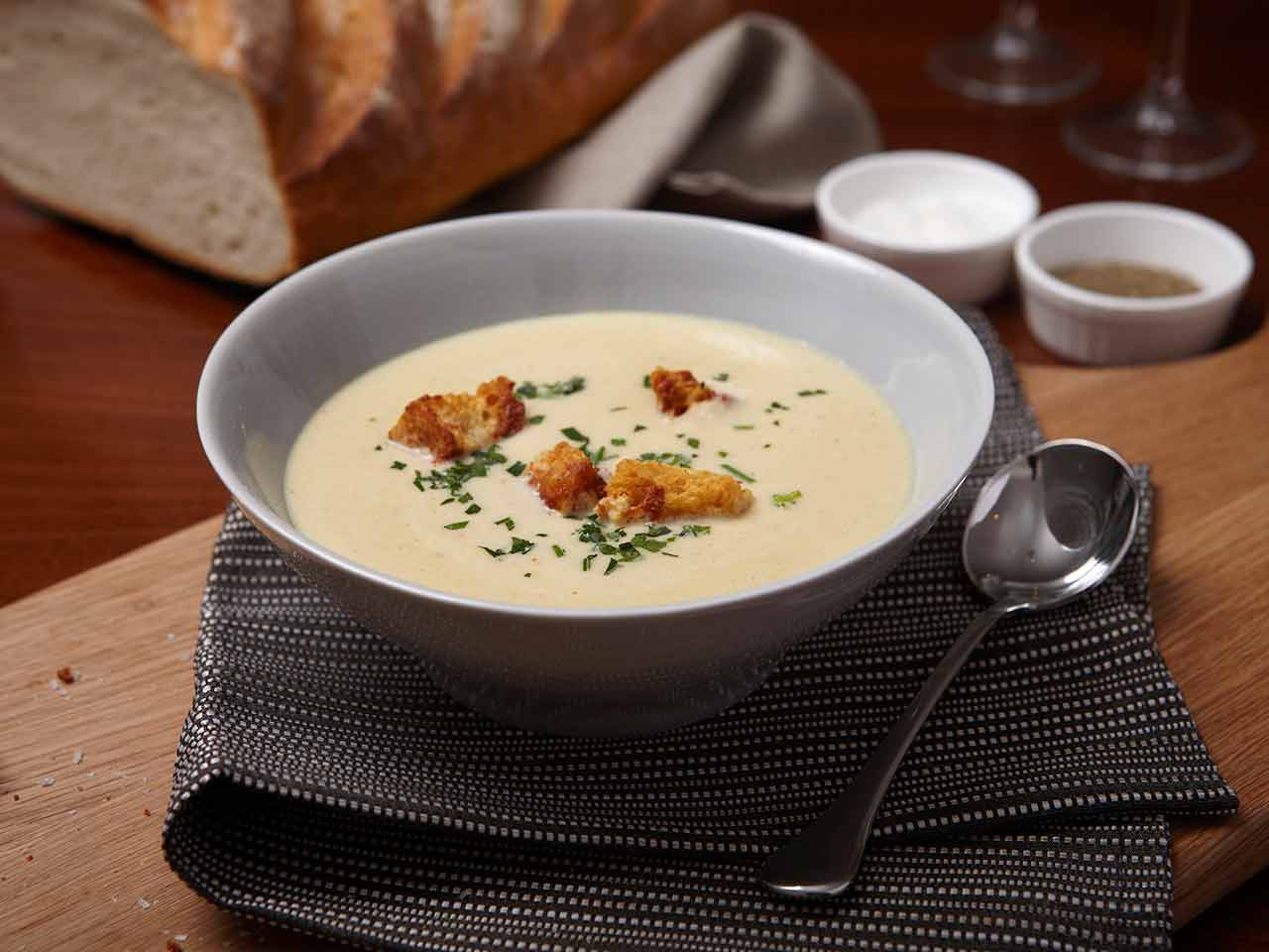 Celery and Stilton soup