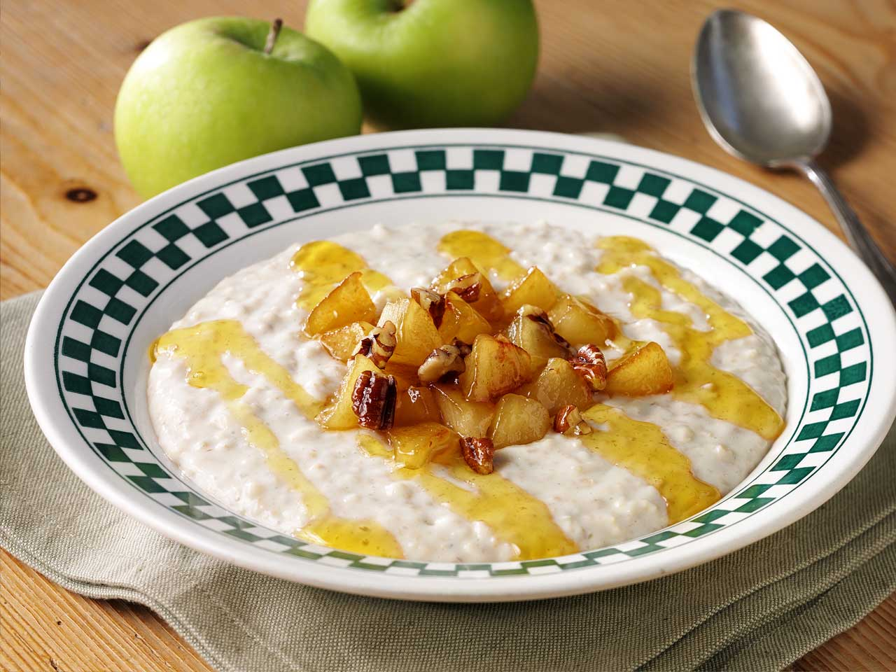 Toffee apple porridge