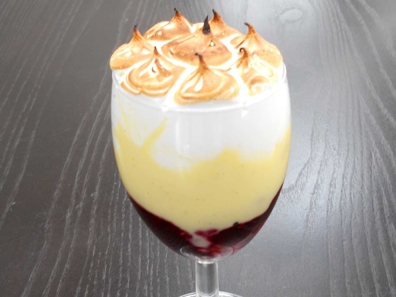 Queen of Puddings, a deliciously decadent trifle with a meringue topping