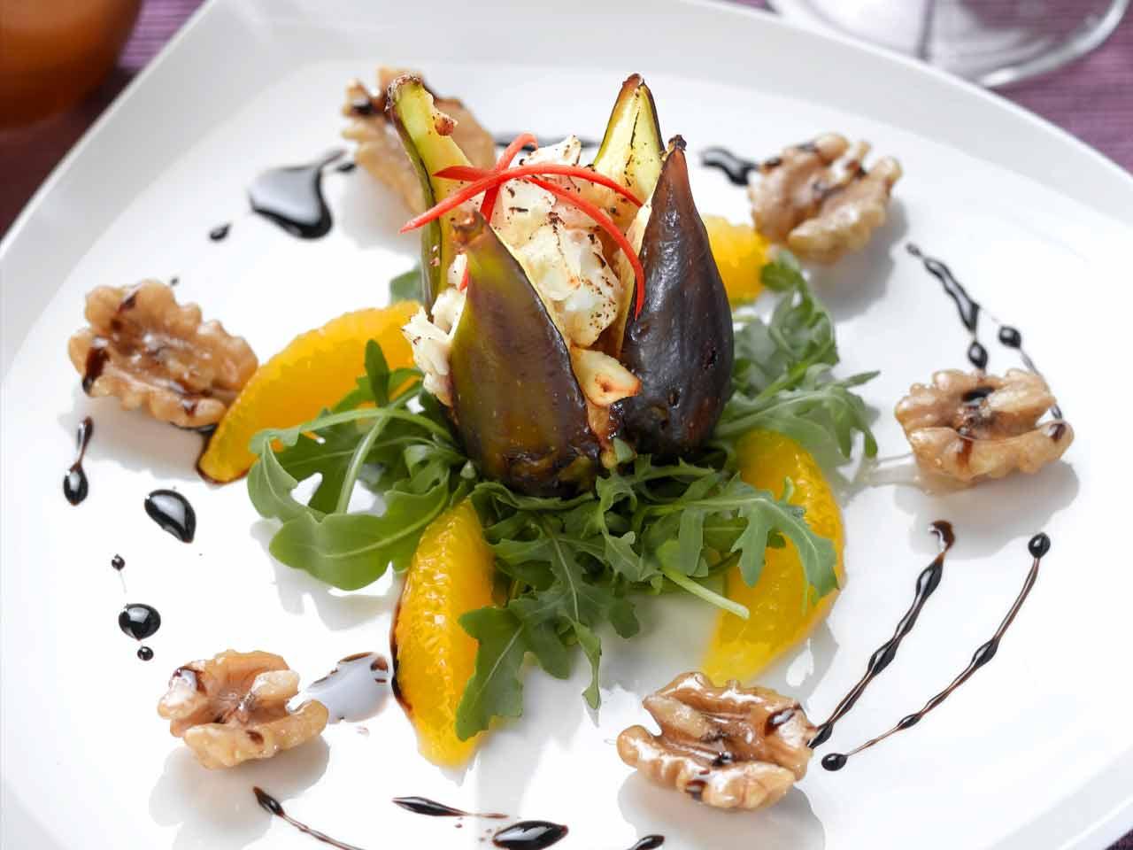 Festive figs with feta