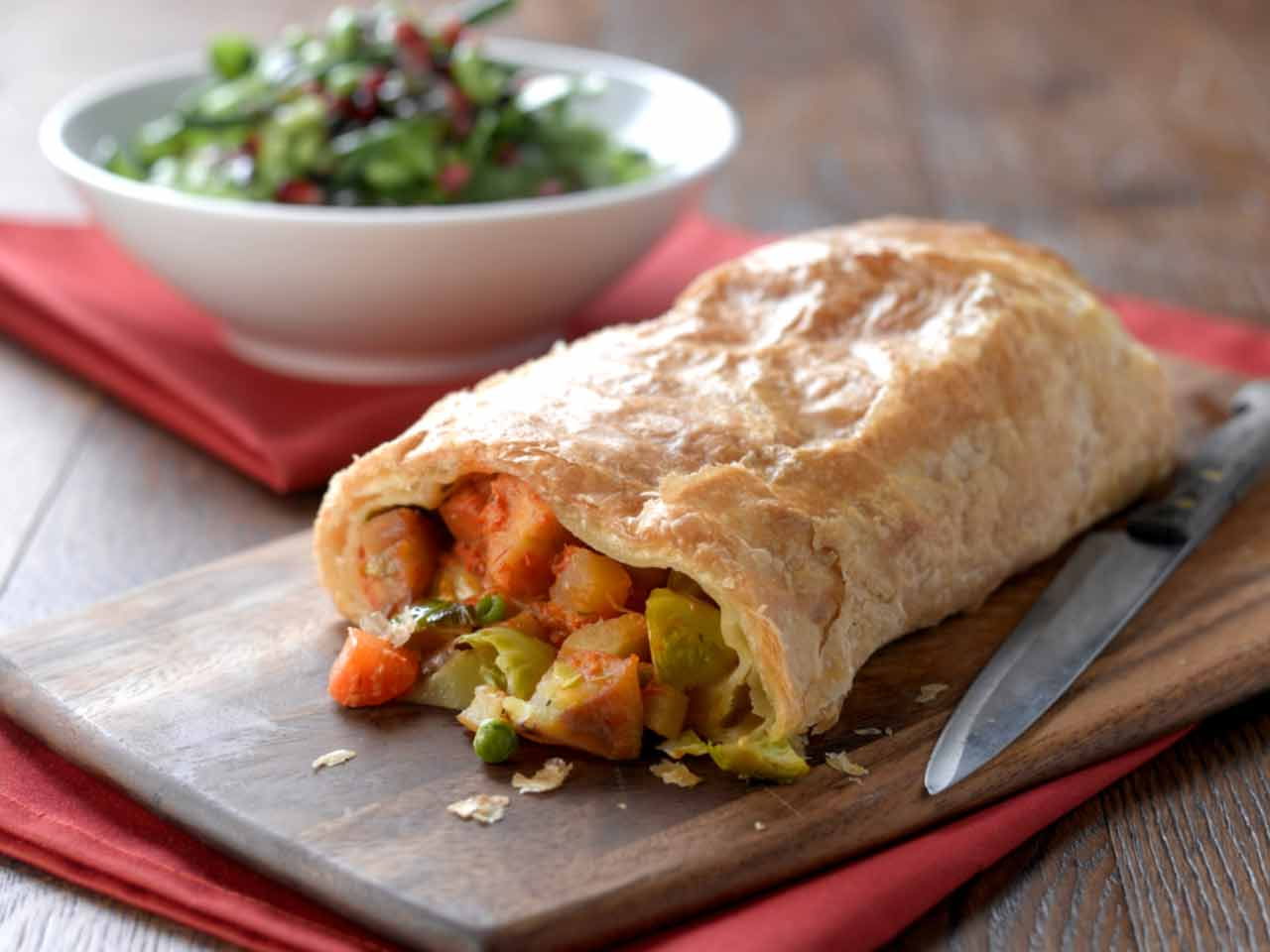 Leftover Christmas vegetable strudel