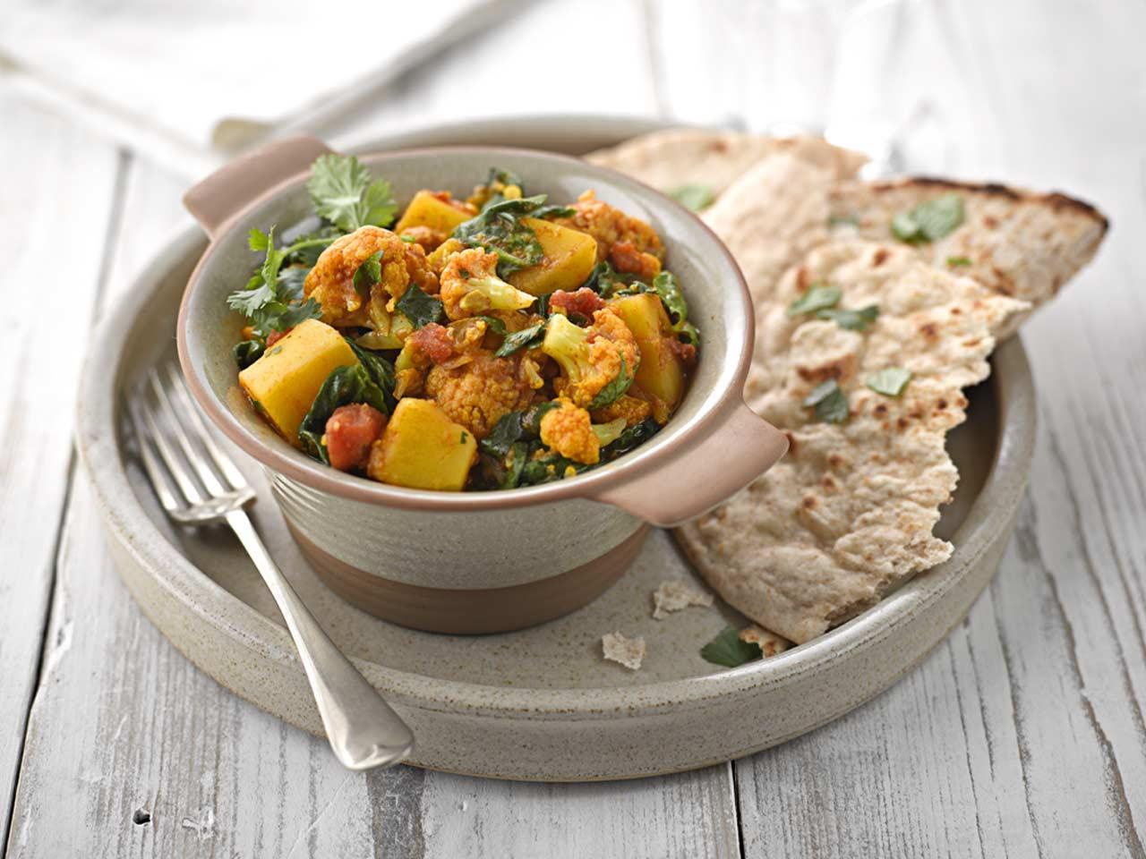 recipe: spinach and cauliflower bhaji [35]