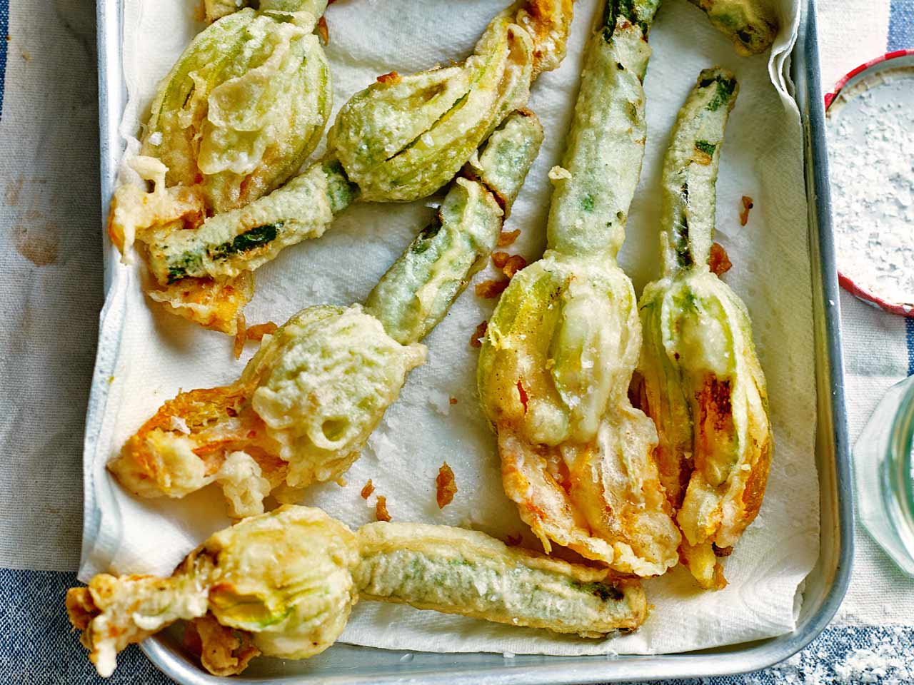 Theo Randall's deep-fried courgette flowers