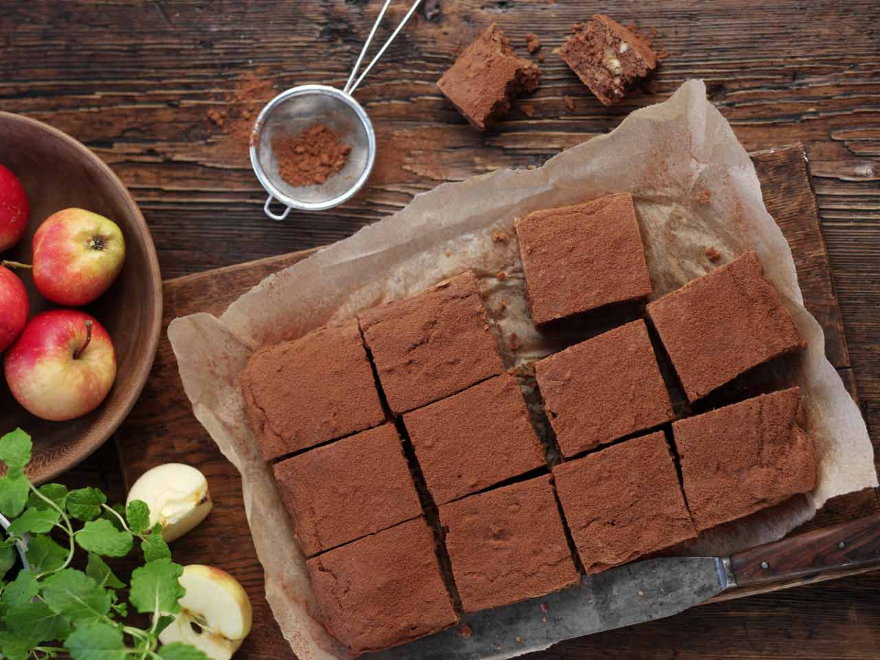 Chocolate and butter bean brownie