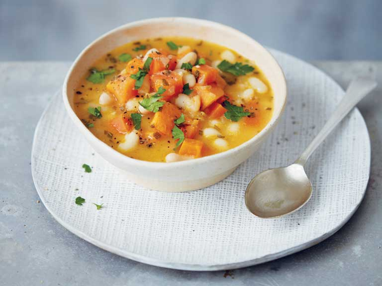 Sweet potato and white bean stew
