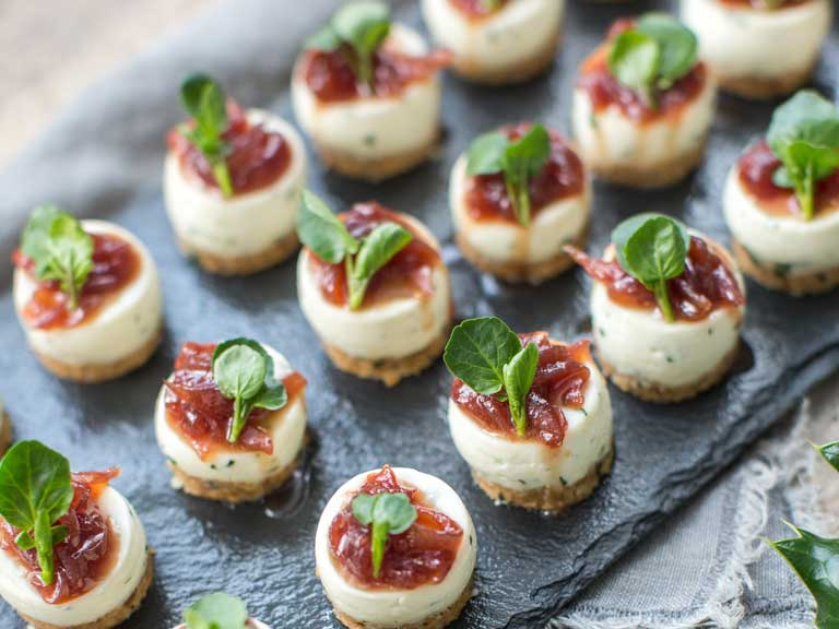 Goat's curd and watercress cheesecakes