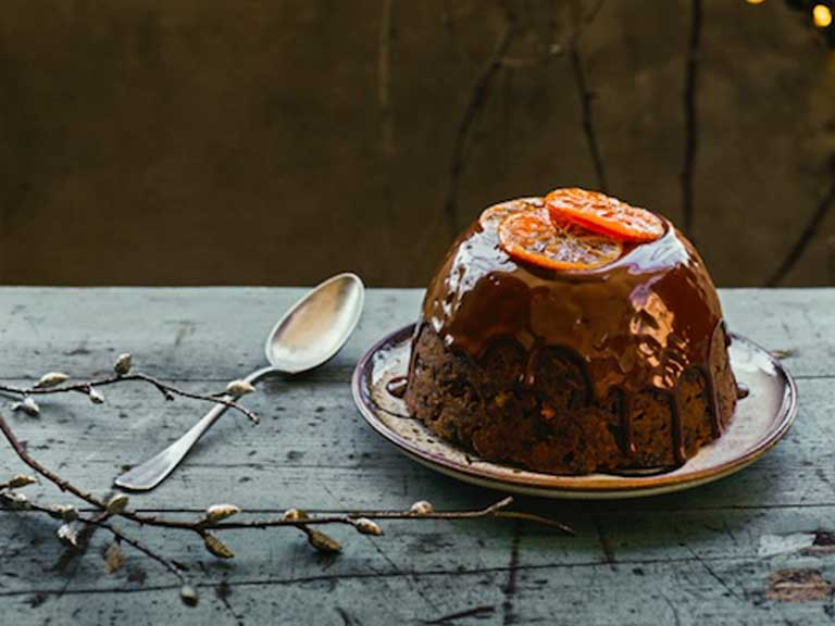 Edd Kimber's clementine and chocolate Christmas pudding