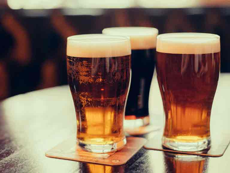 Beer and lager drinkers take in far more fluid than is lost through the diuretic action of the alcohol.