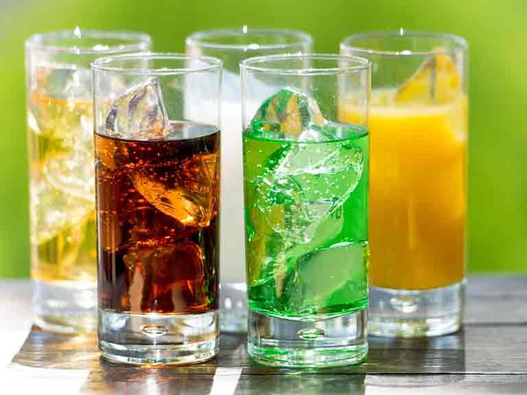 Tea, most types of coffee, juices, soft drinks and the water in your food all count.