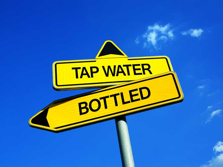 Tap water vs bottled water