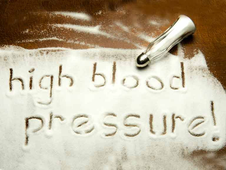 Consuming too much salt is a risk factor for high blood pressure
