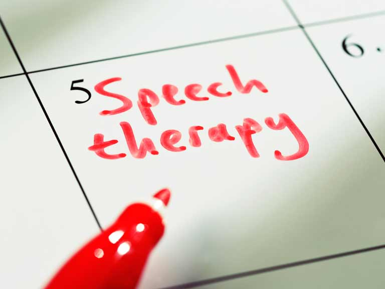 The recommended treatment for aphasia is speech and language therapy (SLT).