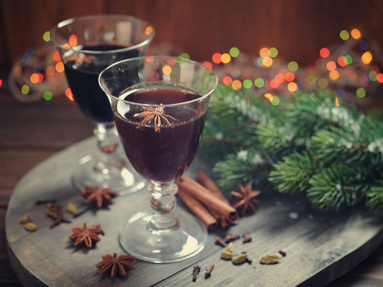 Mulled wine at Christmas time
