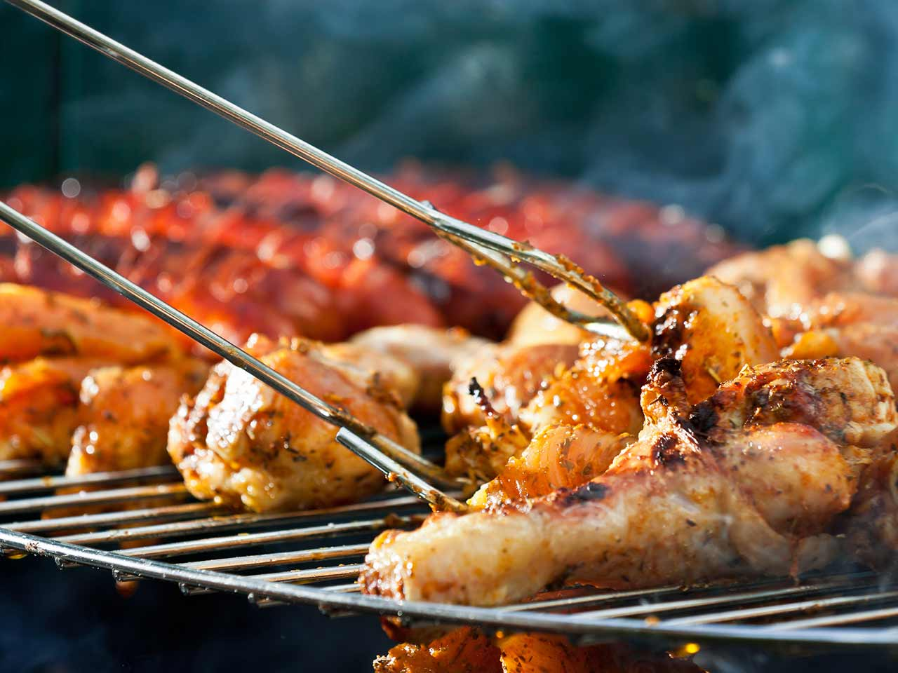 Chicken on a barbecue