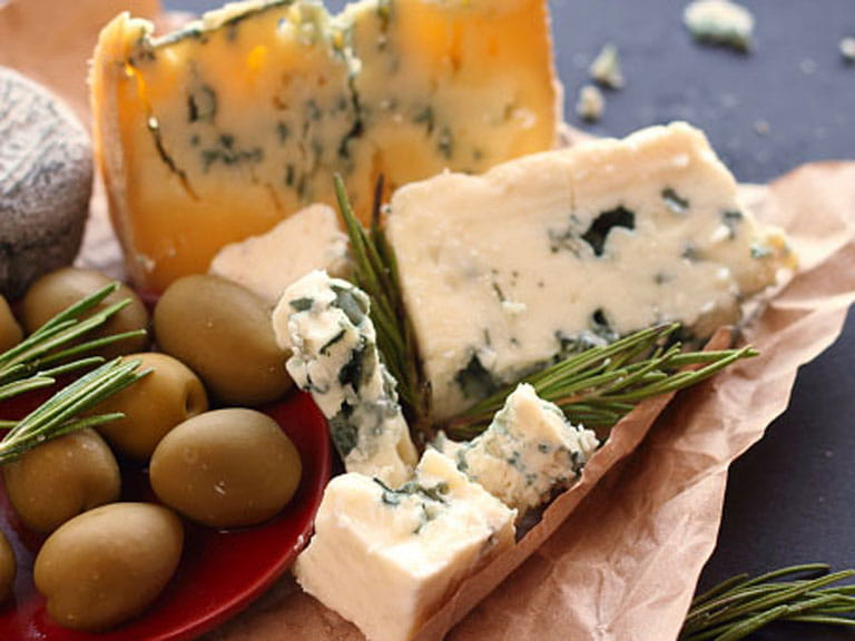 Blue cheese, which is especially bad for yeast intolerance