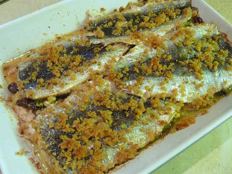 Judith Wills' butterflied sardines