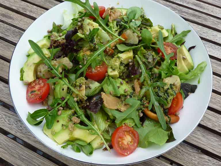 Avocado, cherry tomato and quinoa salad