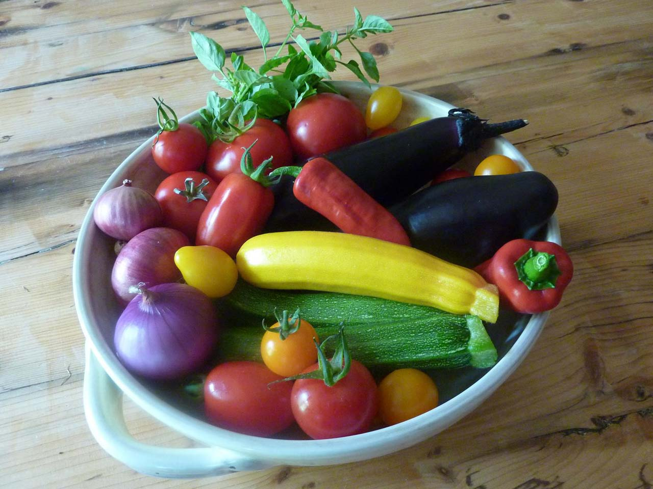 Judith's homegrown summer vegetables