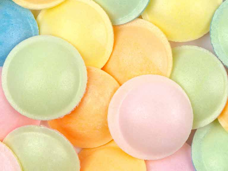 Sherbert flying saucer sweets