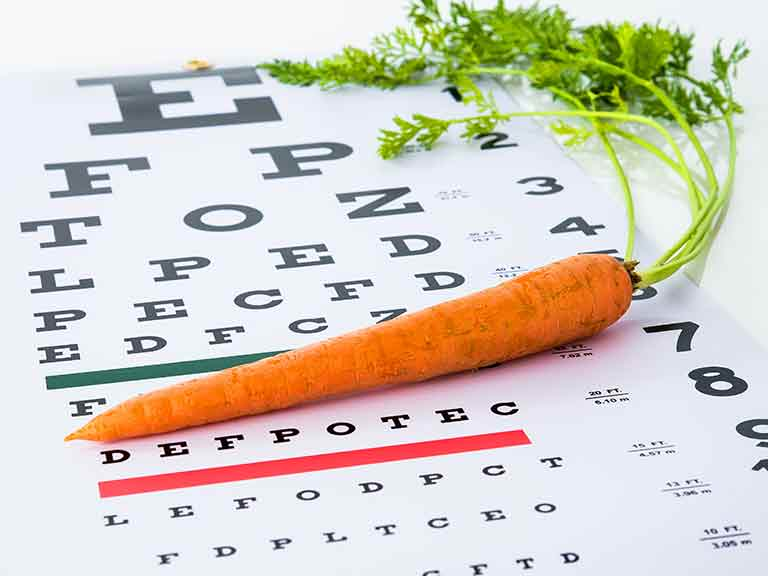 Carrots and eye health