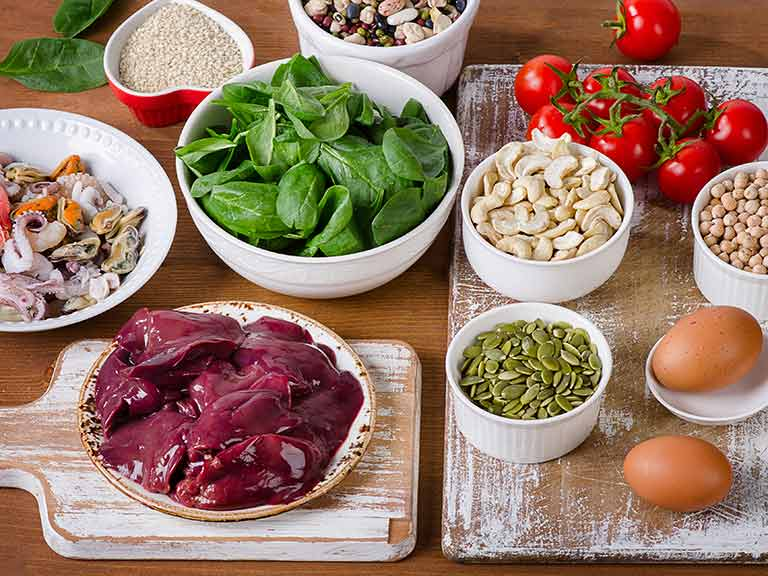 Hair-boosting foods include liver, eggs, shellfish, spinach and more