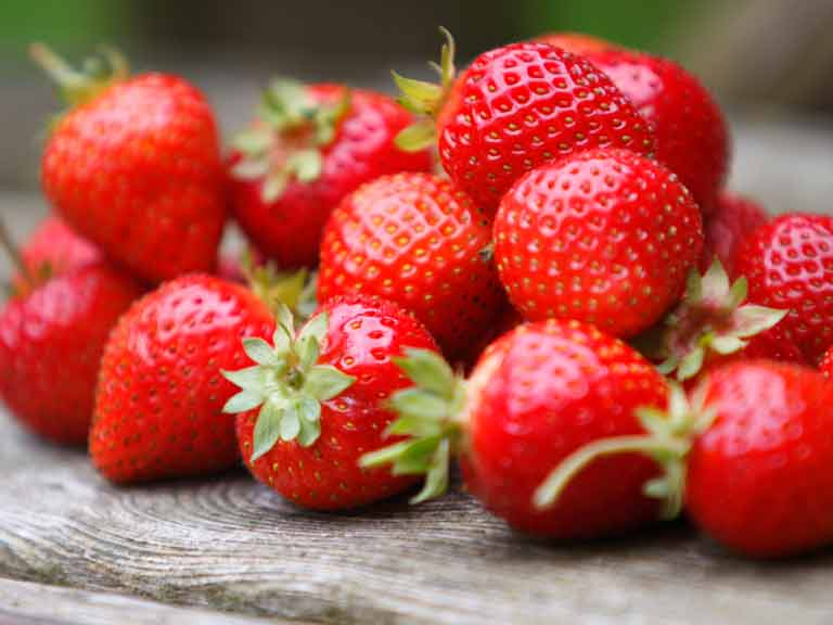 Strawberries are packed with collagen-protecting antioxidants.