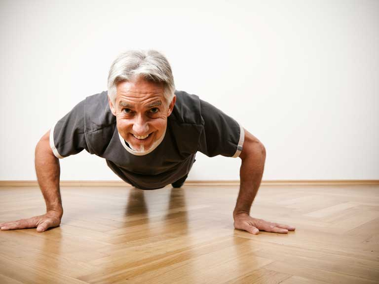 Man doing press-up