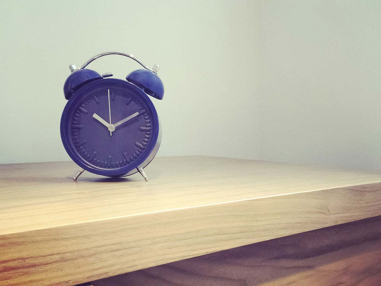 Retro looking alarm clock